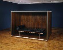<b>Haim Steinbach, <i>Untitled (Daybed, coffin)</i>, 1989</b>