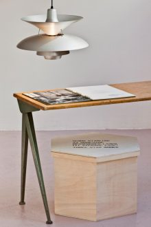<b>Simon Starling, <i>27 Homemade Henningsen Lamps (+1 Average Lamp)</i>, 2001</b>