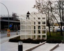 <b>Jonathan Monk, <i>Me up a tree similar to one painted by Piet Mondrian in 1945,</i> 2000</b>